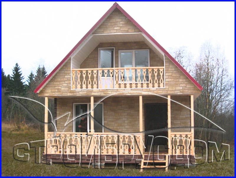 Каркасные дома с верандой